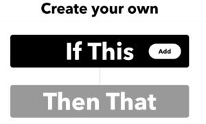 IFTTT Create Applet Screenshot